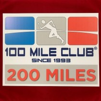 200 MILE Celebration Sign