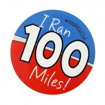 100 Mile Stickers (Set of 12)