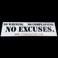 No Excuses Sticker
